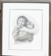 F. LORENZO ADAM CHARCOAL FRAMED PICTURE