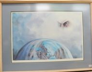 AL KING BEST LAID PLANS FRAMED PAINTING